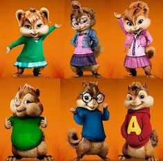 chipettes and chipmunks by michel360
