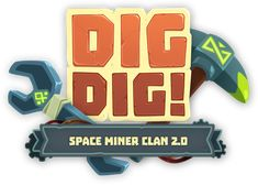 Work I did for Dig Dig! by Bee Square GamesDig Dig! is an idle space fantasy game with RPG mechanics where you control the last dwarf mining station in the universe to work for all kind of weirdos customers. Game Gui, Space Fantasy, Game Logo Design, Name Games, Game Title, Splash Screen, Cartoon Logo, Text Design, Graphic Design