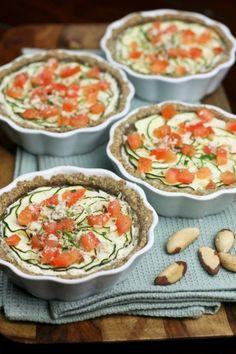 """Zucchini, Tomato and """"Ricotta"""" Tartelettes    #fingerfood #shopfesta"""