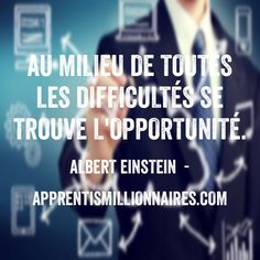 Citation Albert Einstein - http://apprentismillionnaires.com/citations-fond-ecran/citation-albert-einstein-2/