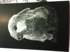 Scratch art bunny by me :)