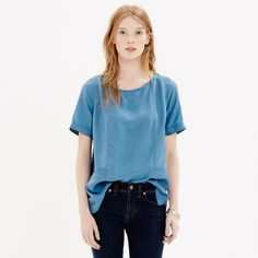 Silk Panel Tee - blouses - Women's SHIRTS & TOPS - Madewell