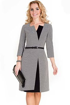 Timeless heringbone coat dress