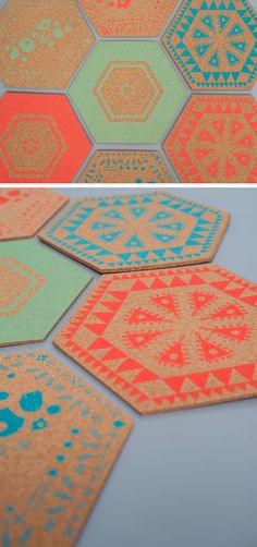 Adeline & Lumiere cork placemats by Full Drop Co.