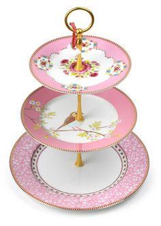 Alice in Wonderland / karen cox.  Pip Studio 3 tier pink cake stand
