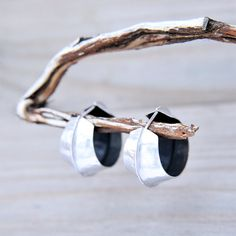 Shell Handmade Big Sterling Silver Statement Earrings by MonaPink