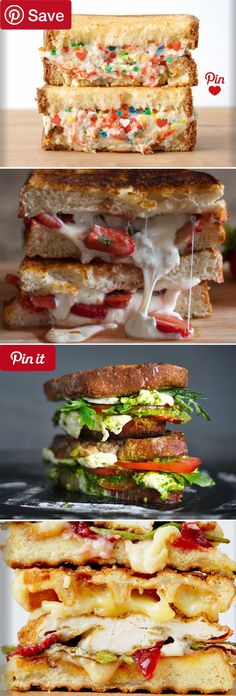 58 Grilled Cheeses Worth Selling Your Soul For - Creative grilled cheese sandwich recipes including: Funfetti & Riccotta Cheese Burrata Balsamic Strawberry Chicken & Waffle and Caprese & Fresh Mozzarella are but a few of the easy #GrilledCheese recipes I hope youll enjoy as much as my family did. #delicious #diy #Easy #food #love #recipe #recipes #tutorial #yummy @mabarto - Make sure to follow cause we post alot of food recipes and DIY we post Food and drinks gifts animals and pets and…