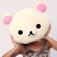 Korilakkuma Cushion by Rilakkuma - big plush kawaii bear head!