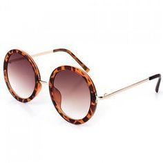 1b7cdb1d4a24 Chic Flecky Round Frame and Golden Leg Design Sunglasses For Women