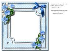 Incert Blue flowers  on Craftsuprint - Add To Basket!