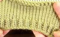 Basic Ribbing without a Ribber - Online Tutorial