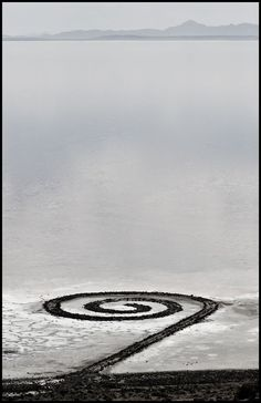 spiral jetty by robert smithson- great salt lake