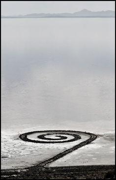 spiral jetty by robert smithson- great salt lake