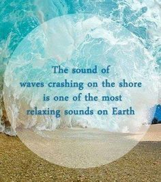 Most relaxing sound on earth! To fall asleep listing to ocean waves is heaven on earth. Sunset Beach, Ocean Beach, Beach Day, Beach Waves, Ocean Waves, Beach Pics, Beach Stuff, Ocean Quotes, Beach Quotes