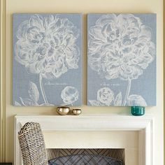 Graceful Peony Floral Art by Ballard Designs.  These are beautiful!