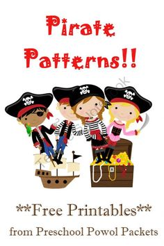 Pirate Patterns Packet from PreschoolPowolPackets on TeachersNotebook.com -  (5 pages)  - 3 pages of fun, pirate-themed pattern activities for preschoolers!  #free printable! #preschool