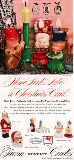 Tavern Novelty Candles, 1951. My mama had lots of these candles, including ones for Thanksgiving. love