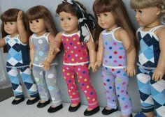 American Girl Doll Clothes  Doll Knit Leggings by TheTrendyDoll,