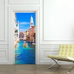 Door Sticker – the treasure thrift Door Stickers, Wall Sticker, Cheap Doors, Door Murals, Bedroom Doors, Used Vinyl, Door Wall, Pvc, Home Decor Wall Art