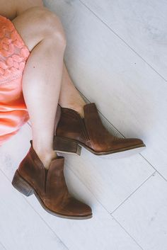 Courage Bootie - Cognac
