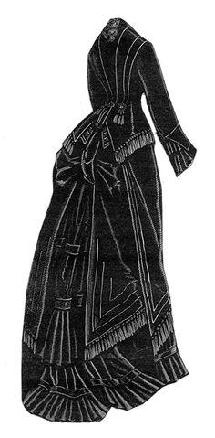 1876 Black Grosgrain & Cashmere Suit Pattern