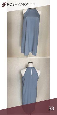 H&M dress beaded halter neck Powder blue shift halter dress with beads detail around the neck H&M Dresses Midi