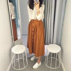 Korean Fashion Psychology Research Institute .Korean Fashion Psychology Research Institute Modern Hijab Fashion, Street Hijab Fashion, Hijab Fashion Inspiration, Muslim Fashion, Modest Fashion, Look Fashion, Skirt Fashion, Korean Fashion, Fashion Dresses