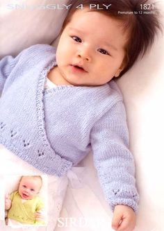 47da1e1859f8 Image result for knitting baby crossover cardigan free pattern ...