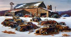 Junk Yard Image Size 30 x 16 Signed and Numbered