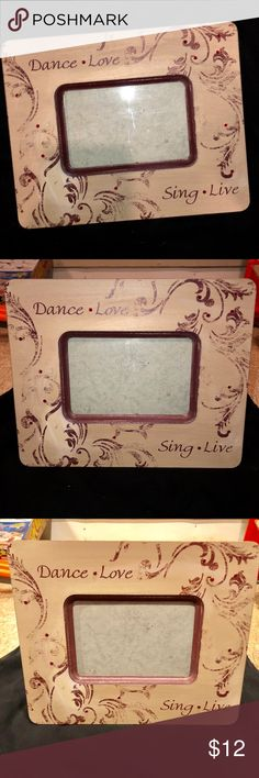 Thick Dance Love Sing Live Picture Frame Good condition! Other