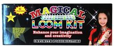 Amazon.com : Magical Colorful Loom Kit, Includes Loom, Hook, Bands, Clips & Charms : Childrens Jewelry Making Kits : Toys & Games