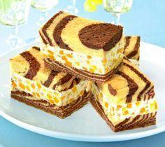 Tigerschnitten - Ein sahniger Kuchen mit Pfirsichen und Ricotta für die Kaffeetafel