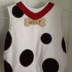 cute Dalmatian costume vest