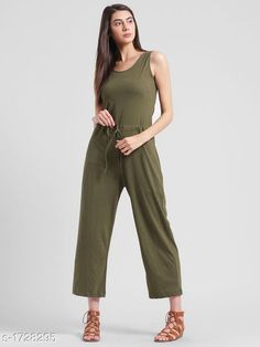 Jumpsuits Elegant Women's Jumpsuit  *Fabric* Cotton Jersey  *Sleeves* Sleeves Are Not Included  *Size* S - 36 in , M - 38 in , L - 40 in  *Length* Up To 46 in  *Type* Stitched  *Description* It Has 1 Piece Of Women's Jumpsuit  *Pattern* Solid  *Sizes Available* XXS, XS, S, M, L, XL, XXL, XXXL, 4XL, 5XL, 6XL, 7XL, 8XL, 9XL, 10XL, Free Size *   Catalog Rating: ★4.2 (230)  Catalog Name: Adeline Elegant Womens Jumpsuits CatalogID_226201 C79-SC1030 Code: 553-1728295-