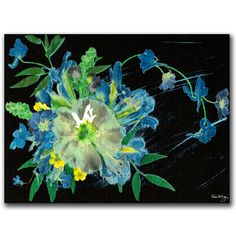 'Meteor Shower' by Kathie McCurdy Painting Print on Canvas