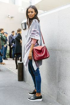 Skinny jeans with a tunic