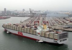 Port of Long Beach - OOCL container ship