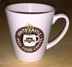 White Castle Coffee Cup Restaurant 2001 Real Good Coffee You Crave Ceramic Mug
