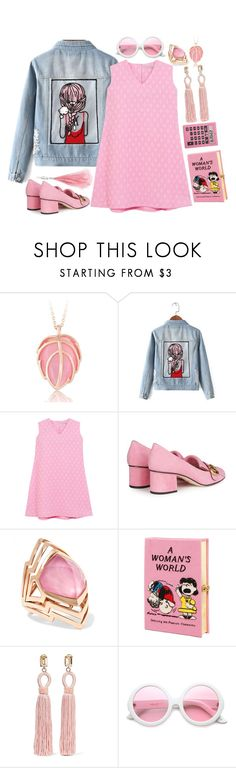 """Jean Jackets"" by alynncameron ❤ liked on Polyvore featuring Chicnova Fashion, Emilia Wickstead, Gucci, Stephen Webster, Olympia Le-Tan, Oscar de la Renta, ZeroUV, Christopher Kane and jeanjackets"