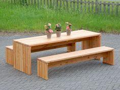 gartenmöbel set 1 + hocker holz, transparent grau - café, Garten Ideen