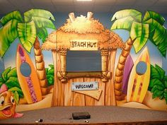 Worlds of Wow - a small themed stage for this kids' room at Trinity Baptist Church in Lake Charles, LA.