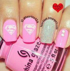 Supergirl nails