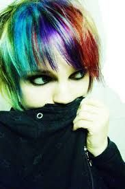 Image result for multi colored hair