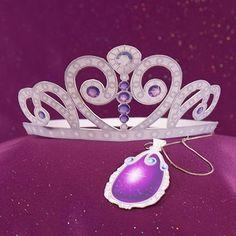 Princesa Sofía: Corona y Dije 3D para Imprimir Gratis.