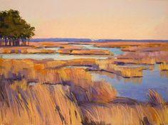 Honeyed Grass, Pastel Painting, Jackie Jouvenal, Landscape