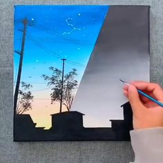 Great art by ID: 1159505892 (Döuyin App) - Trend Pencil Drawings 2020 Cute Canvas Paintings, Canvas Painting Tutorials, Canvas Art, Art Paintings, Cool Art Drawings, Drawing Ideas, Pencil Drawings, Sketch Art, Sketches