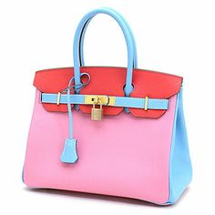hermes birkin style bags - Bi-color So Blue Electric And Gris T Togo Birkin 30cm Tote Bag ...