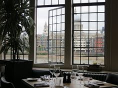 """London - """"Swan Bar & Restaurant"""" at """"Shakespeare's Globe Theatre"""", by the River Thames"""