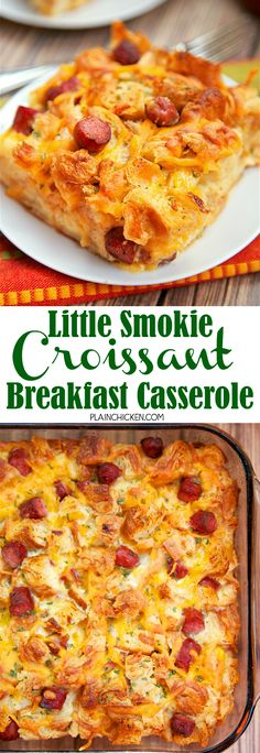 You can make this Lit'l Smokies® Smoked Sausages Croissant Breakfast Casserole the night before and have a yummy meal waiting for you the next morning!