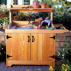 Potting Bench Woodworking Plan - Product Code Dp-00193